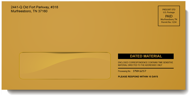 Brown Kraft Single Window Envelope