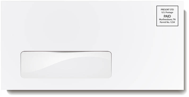 White Single Window Envelope